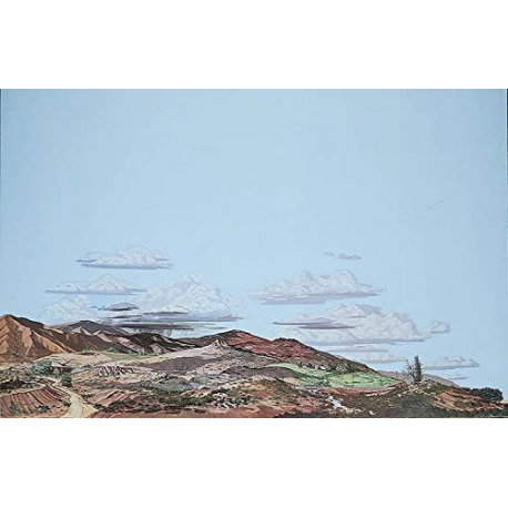 Background Scene - Desert to Country - 24 x 3 in - 60 x 90cm - HO - Instant Horizons - Walthers SceneMaster 949-707