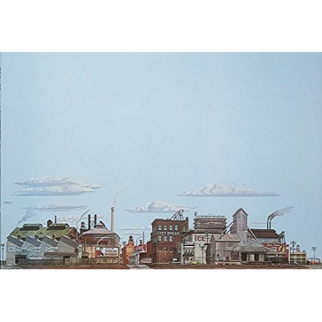 Background Scene - Freight Yards - 24x36 in - 60x90cm - HO - Instant Horizons - Walthers SceneMaster 949-711