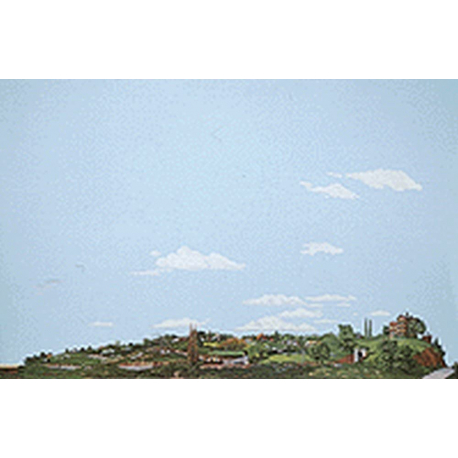 Background Scene - Country to City - 24x36 in - 60x90cm - HO - Instant Horizons - Walthers SceneMaster 949-716