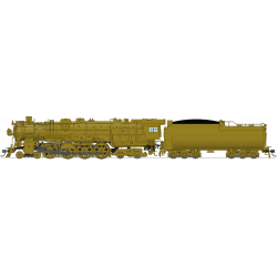 Steam locomotive Northern Pacific A-3 4-8-4 Unlettered, Painted Brass - Paragon3 Sound DC DCC Smoke HO - Broadway Limited 4924