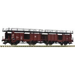 Car carrier wagons -- Autotransportwagen -- DB - 2 piece set - HO - Fleischmann 522401