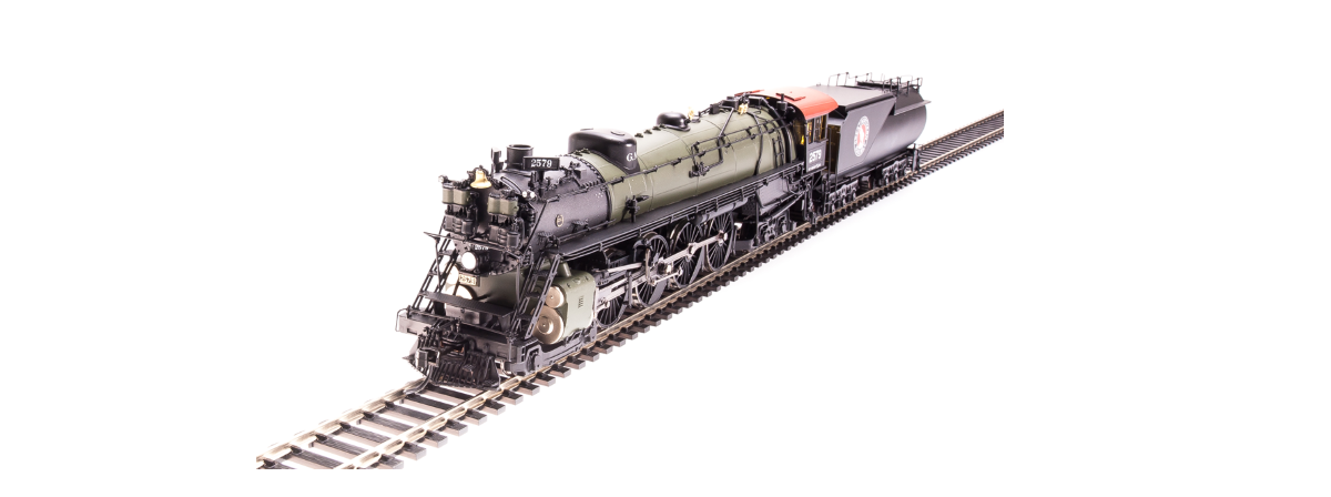 Broadway Limited 5640 Great Northern S-2 4-8-4, #2575 with open cab, Glacier Park, Paragon3 Sound/DC/DCC, Smoke, HO