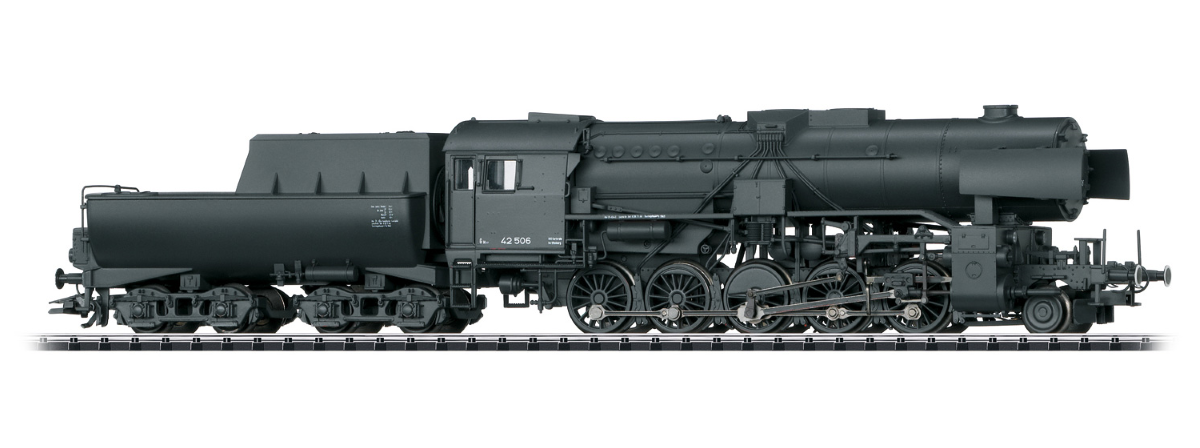 Trix 22225 Class 42 2-10-0 with Tub-Style Tender - Sound and DCC-SX -- German State Railroad DR #42 506 (Era II 1944, black)
