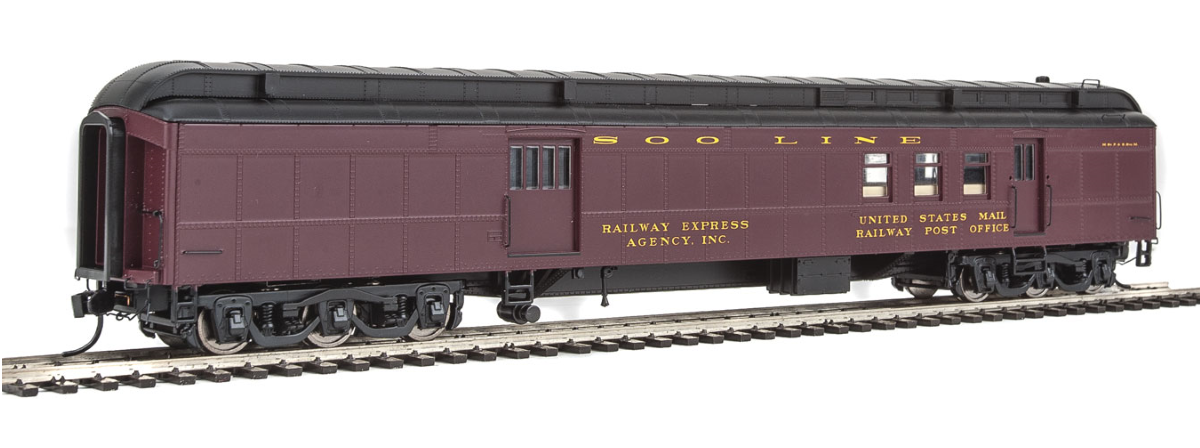 Walthers 920-17407 70' Heavyweight Railway Post Office - Baggage Car - Ready to Run, HO