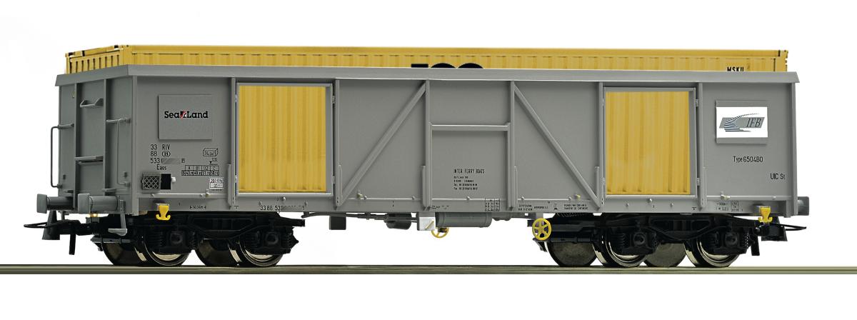 76724 - Roco Gondola with container, SNCB, HO
