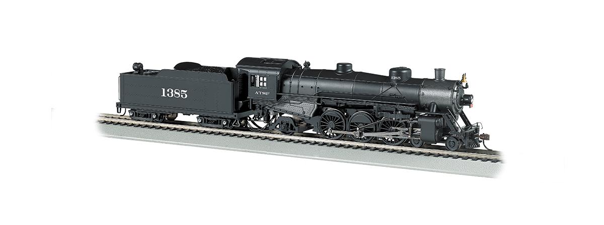 Bachmann 52803 SRA Light 4-6-2 Pacific w/DCC & Sound -- Atchison, Topeka & Santa Fe 1385, HO
